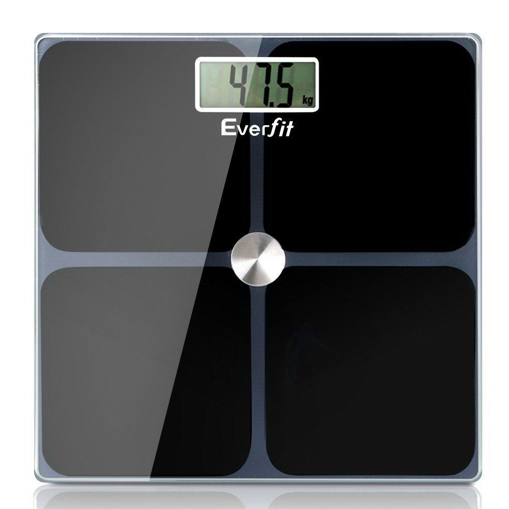 🥇 New Everfit Electronic Digital Body Weight Scale Bathroom Scale-Black ⭐+ Fast Free Shipping 🚀