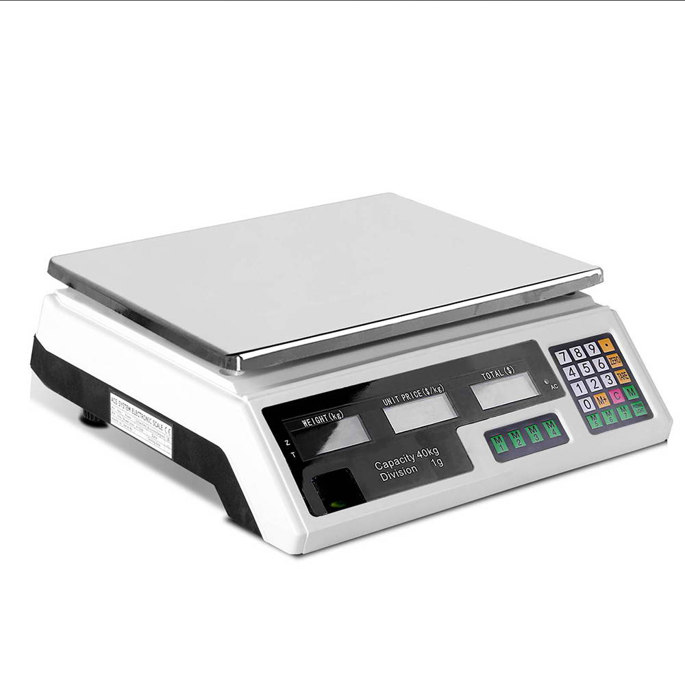 🥇 New 40KG Digital Kitchen Scale Electronic Scales Shop Market Commercial ⭐+ Fast Free Shipping 🚀