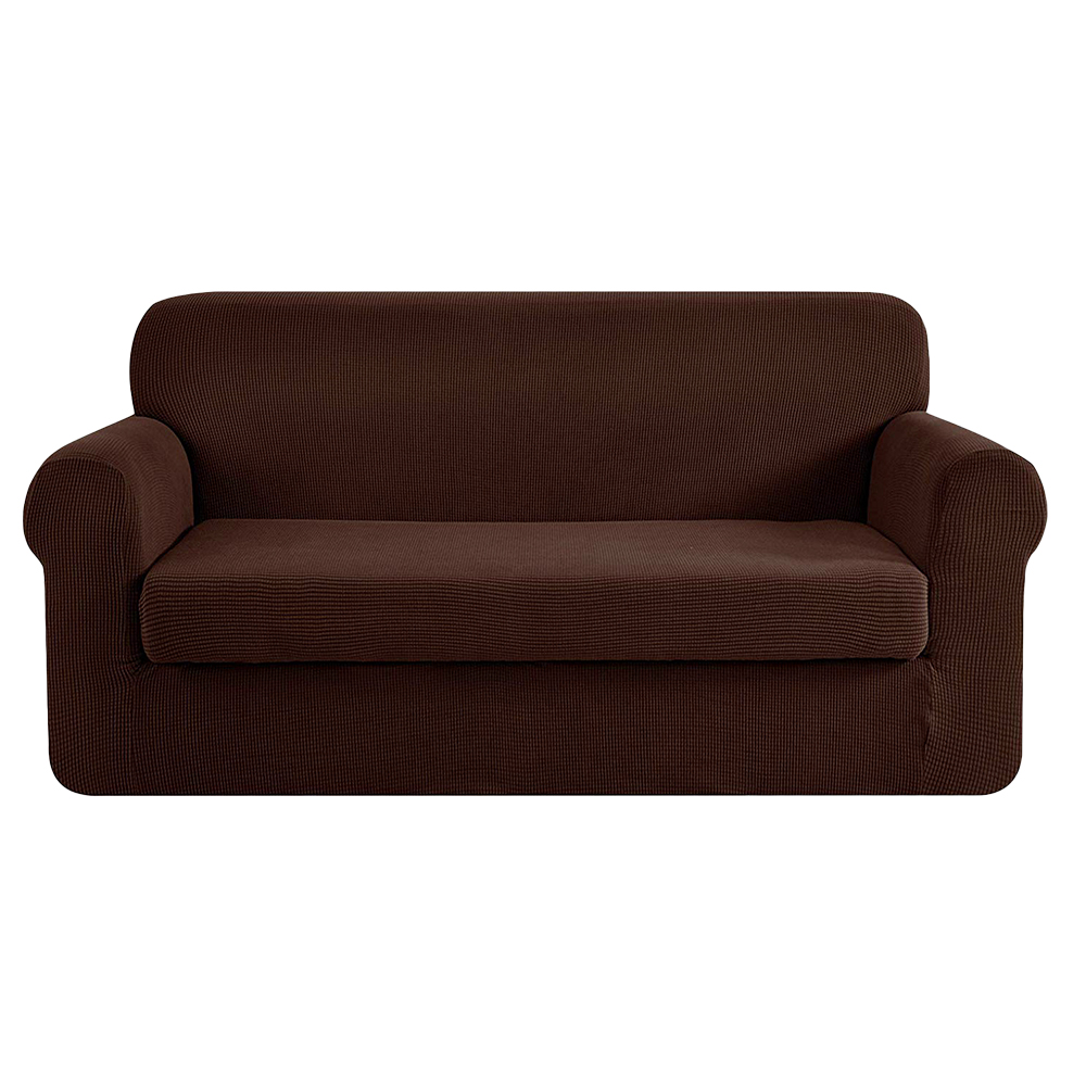 [Brand New] Artiss 2-piece Sofa Cover Elastic Stretch Couch Covers Protector 3 Steater Coffee Fast Free Shipping Australia Wide 2020