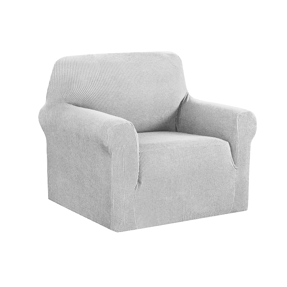 Artiss High Stretch Sofa Cover Couch Protector Slipcovers 1 Seater Grey