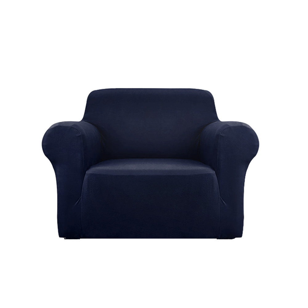Artiss Sofa Cover Elastic Stretchable Couch Covers Navy 1 Seater