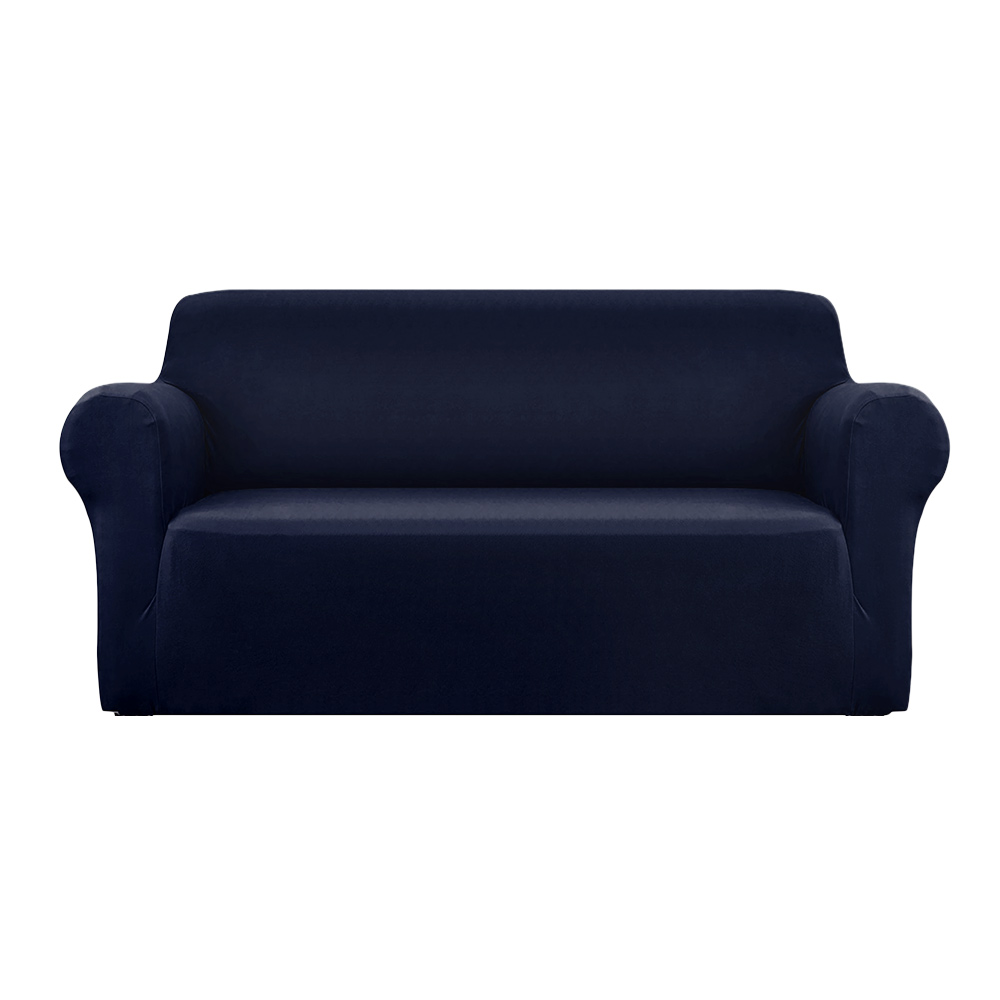 Artiss Sofa Cover Elastic Stretchable Couch Covers Navy 3 Seater