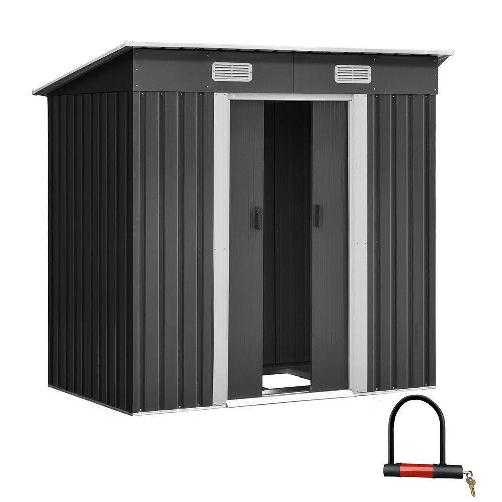 🥇 New Giantz 1.94 x 1.21m metal Base Garden Shed – Grey ⭐+ Fast Free Shipping 🚀
