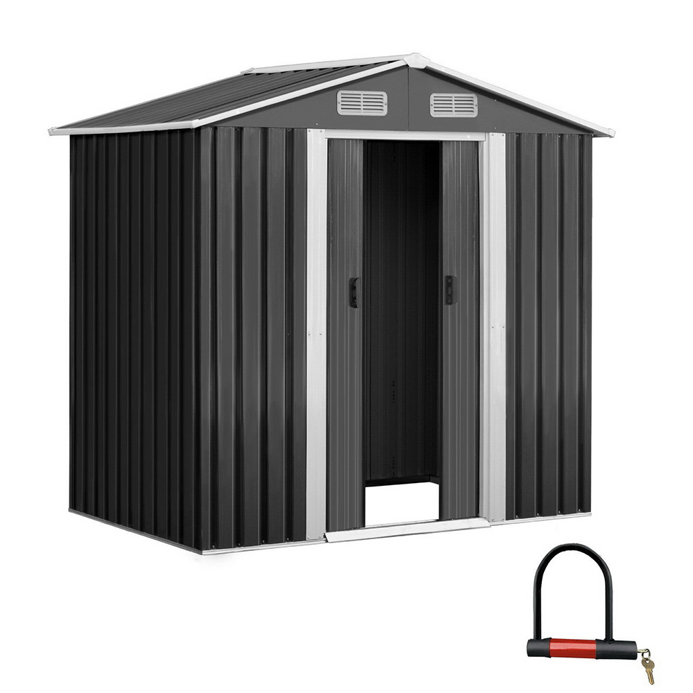 🥇 New Giantz 1.25 x 1.95m Steel Garden Shed – Grey ⭐+ Fast Free Shipping 🚀