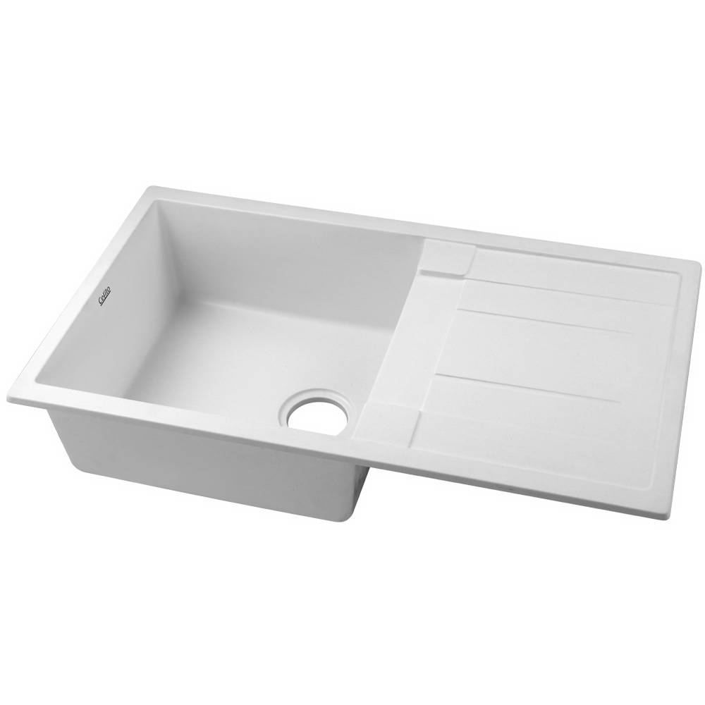Cefito Kitchen Sink Granite Stone Laundry Top or Undermount Double White 860x500mm