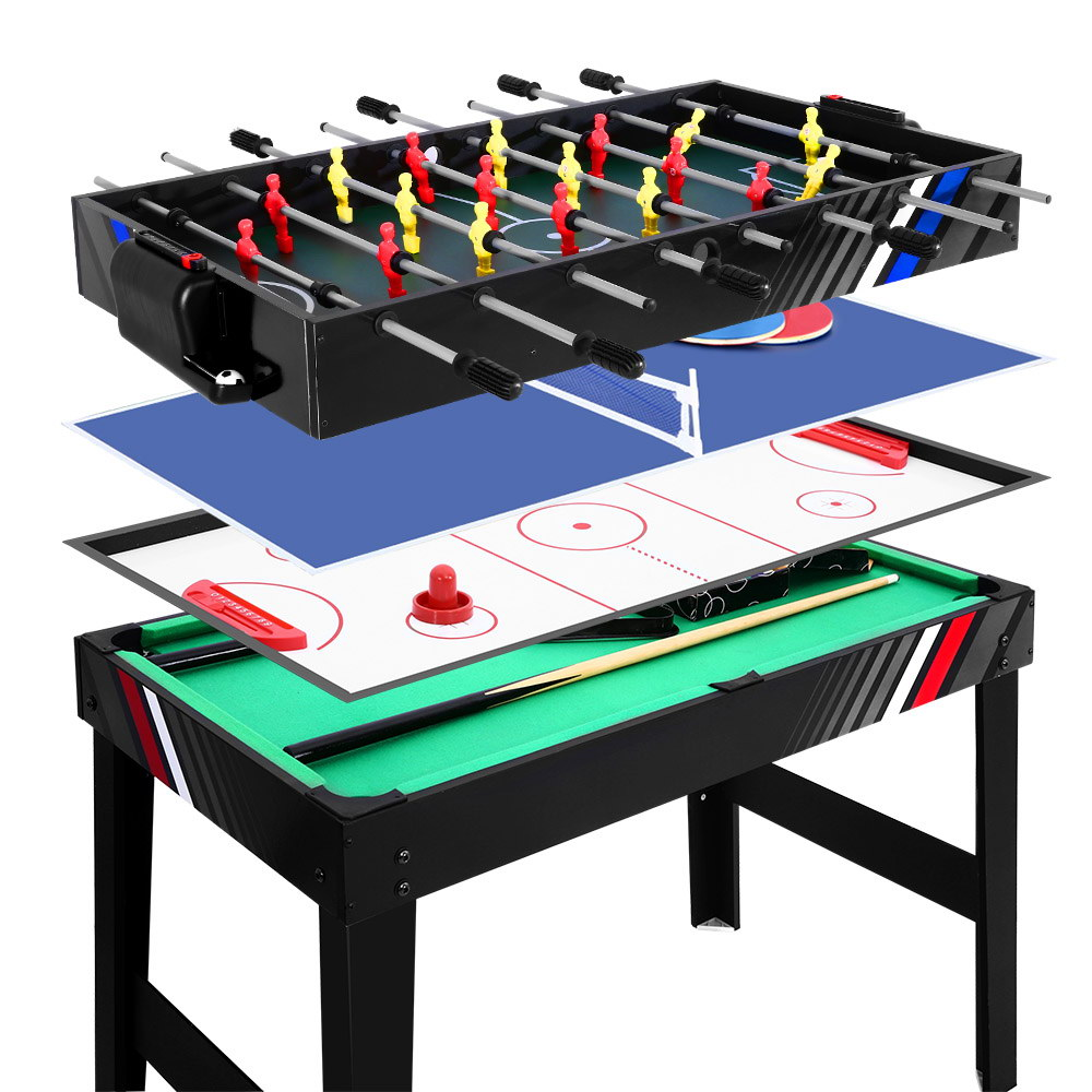 [Brand New] 4FT 4-In-1 Soccer Table Tennis Ice Hockey Pool Game Football Foosball Kids Adult Fast Free Shipping Australia Wide 2020