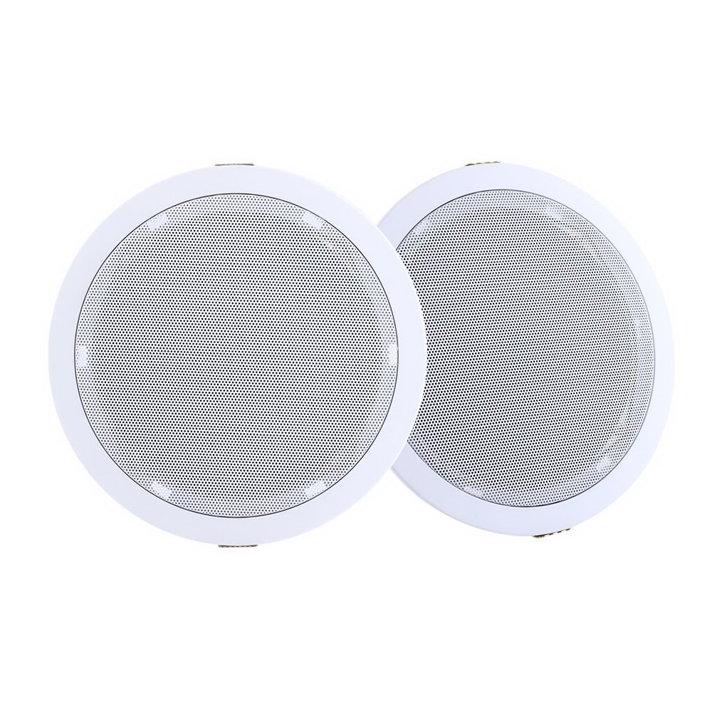 🥇 New 2 x 6″ In Ceiling Speakers Home 80W Speaker Theatre Stereo Outdoor Multi Room ⭐+ Fast Free Shipping 🚀