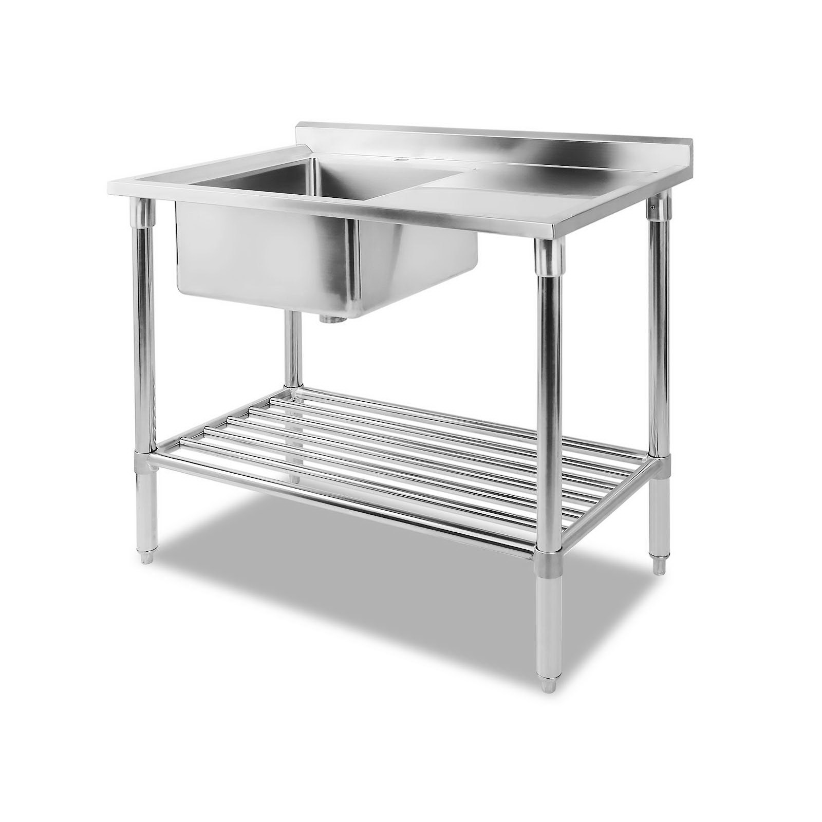 New Cefito 100x60cm Commercial Stainless Steel Sink Kitchen Bench + Fast Free Shipping