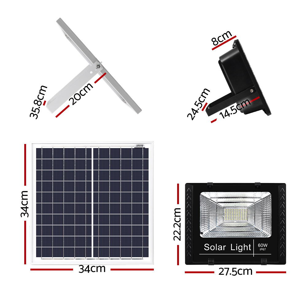 Brand New LED Solar Lights Street Flood Light Remote Outdoor Garden Security Lamp 60W Fast Free Shipping