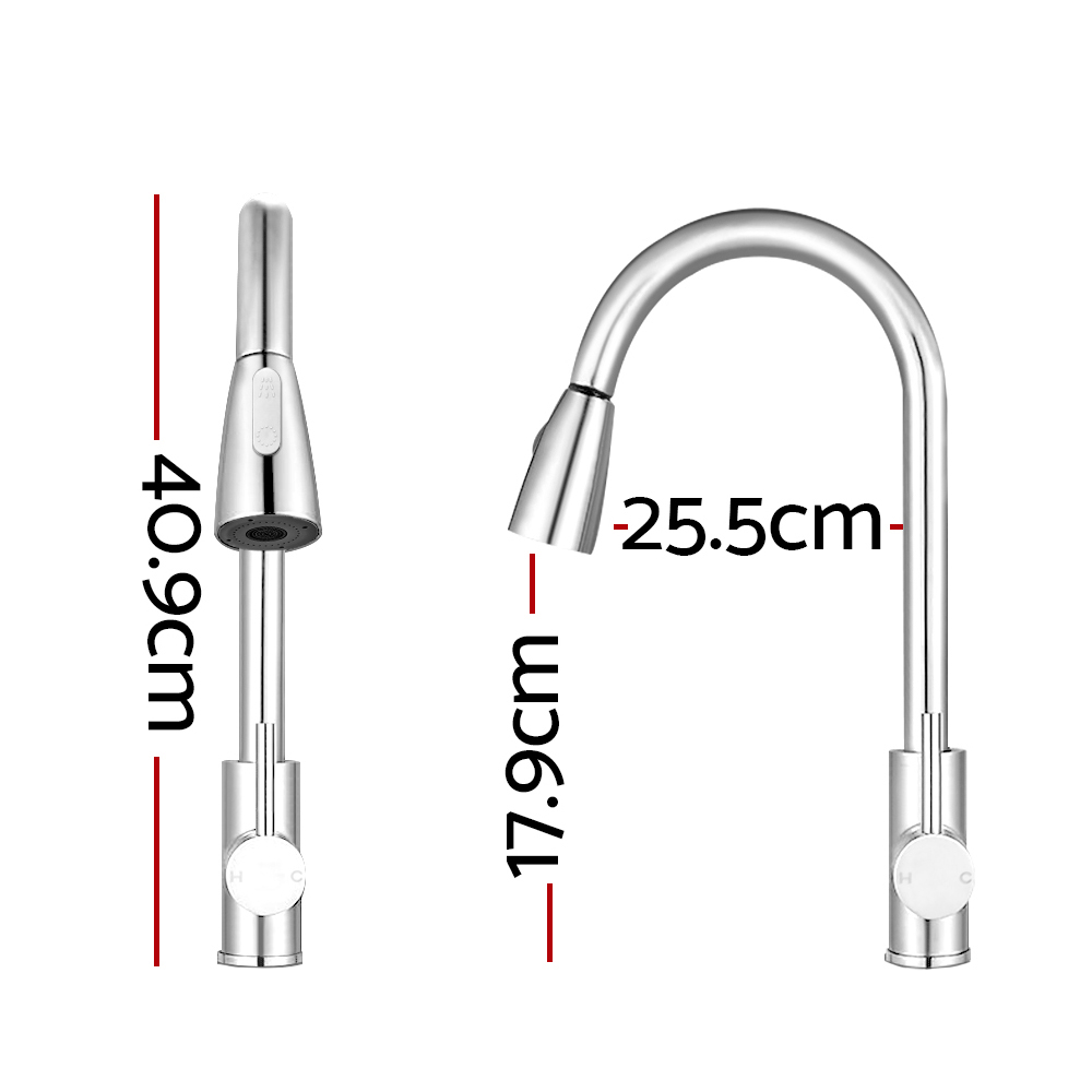 [Brand New] Cefito Pull-out Mixer Faucet Tap – Silver Fast Free Shipping Australia Wide 2020