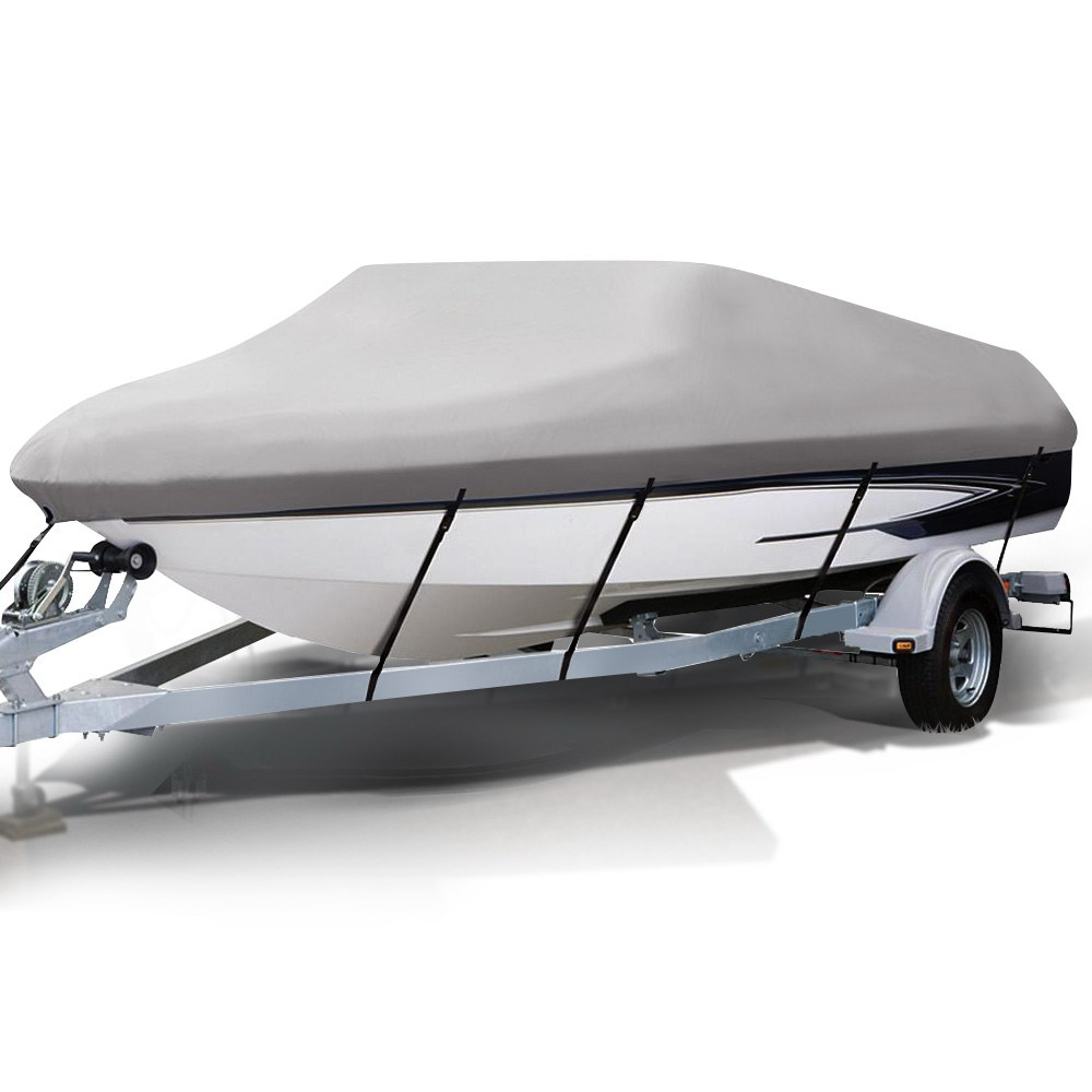 🥇 New 14 – 16 foot Waterproof Boat Cover – Grey ⭐+ Fast Free Shipping 🚀