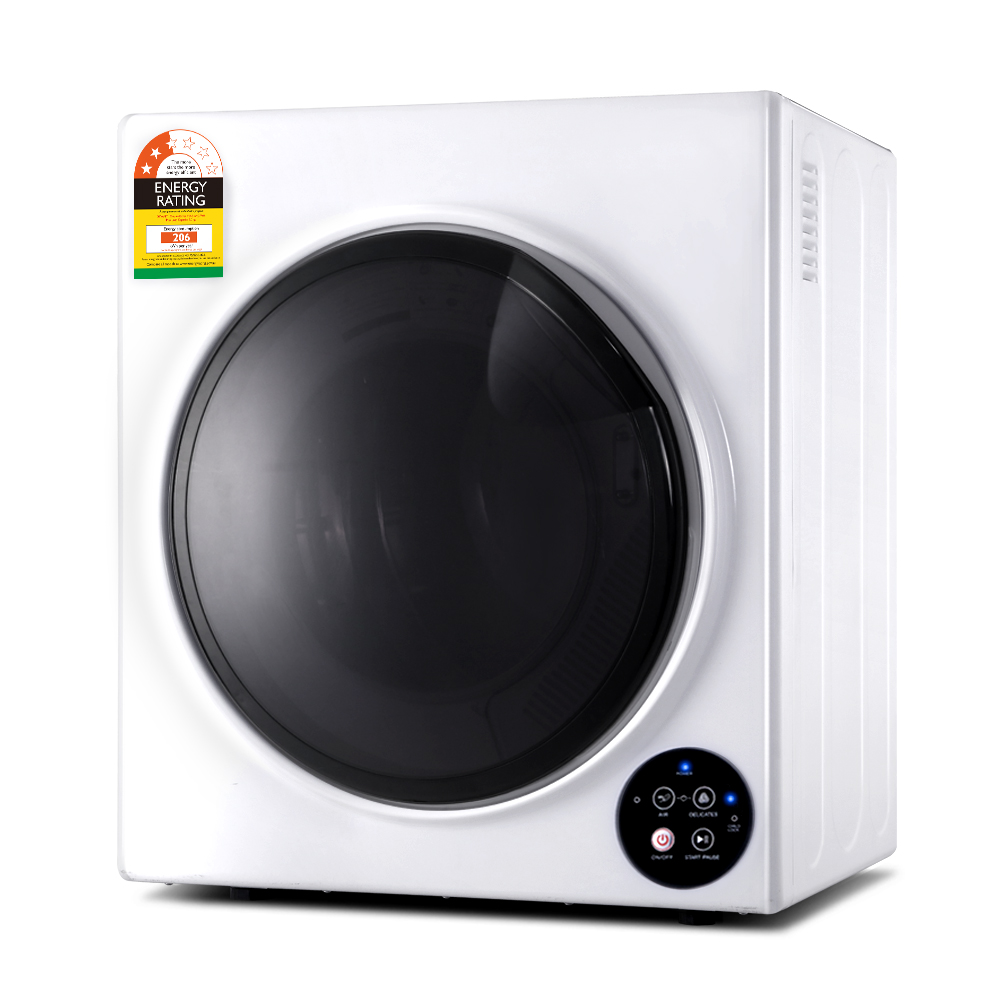🥇 New Devanti 6kg Tumble Dryer Vented Full Automatic Wall Mountable White ⭐+ Fast Free Shipping 🚀