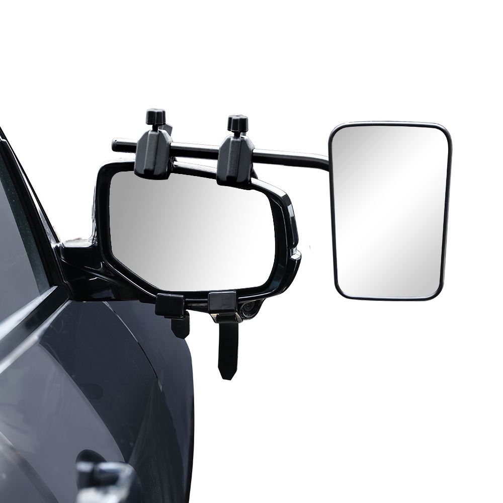 2x Towing Mirrors Universal Multi Fit Strap On Towing Caravan 4X4 Trailer