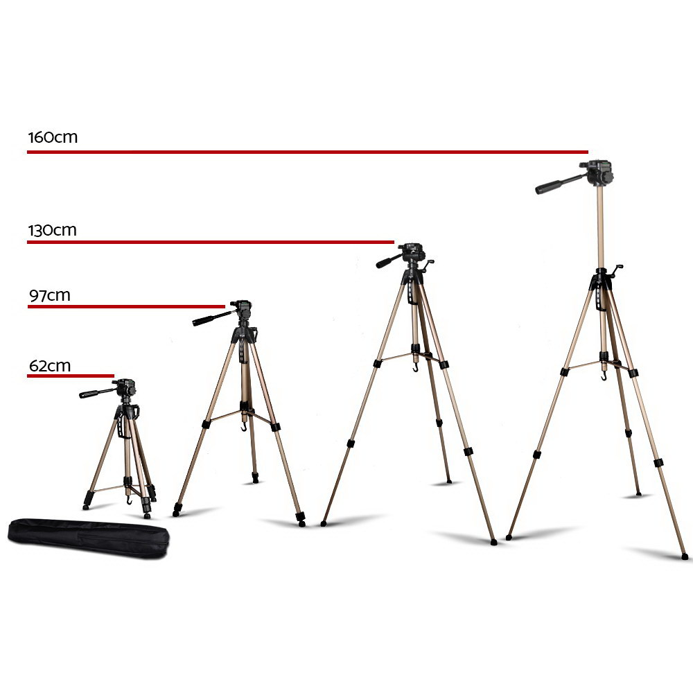 Brand New Weifeng 160cm Dual Bubble Level Camera Tripod Fast Free Shipping