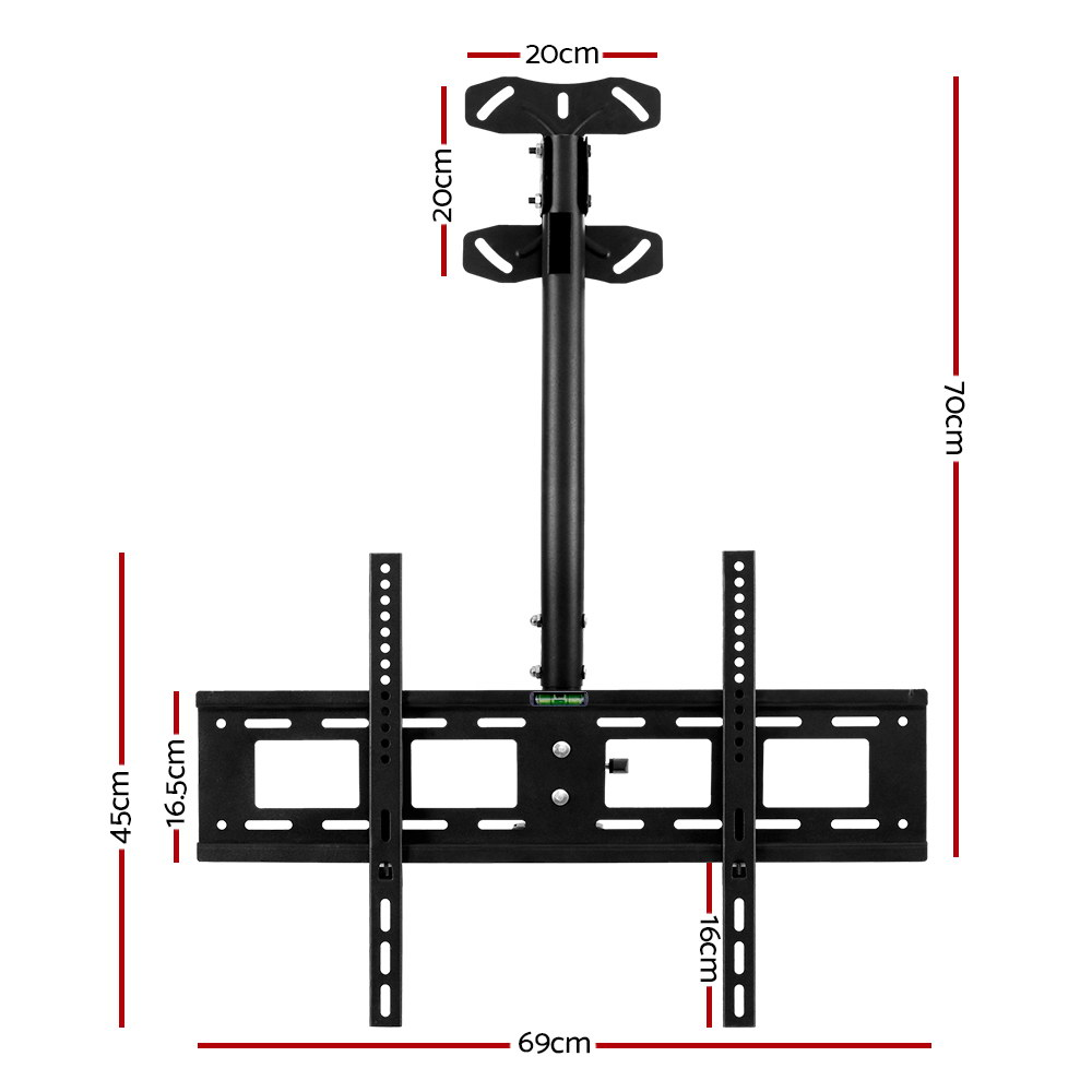 Brand New Artiss TV Wall Ceiling Mount Bracket Full Motion Tilt Swivel 32 42 50 55 60 65 70 75 inch Fast Free Shipping