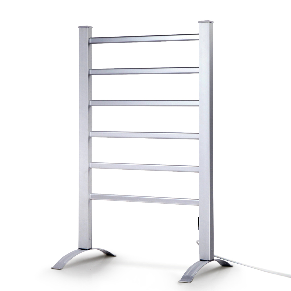 Devanti Electric Heated Towel Rail Rails Warmer Rack Aluminium Bar Bathroom