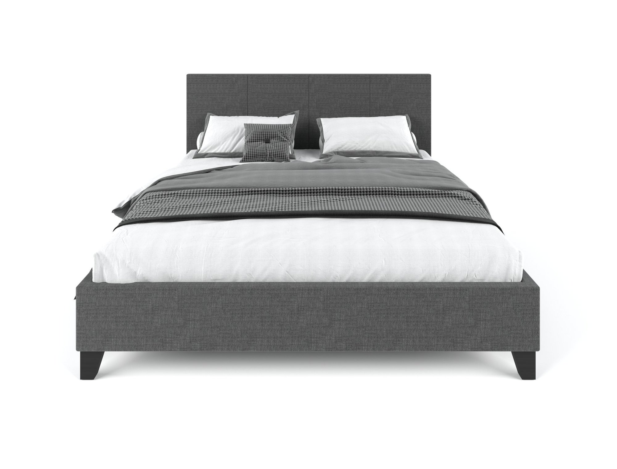 Pale Fabric Bed Frame - Charcoal Queen