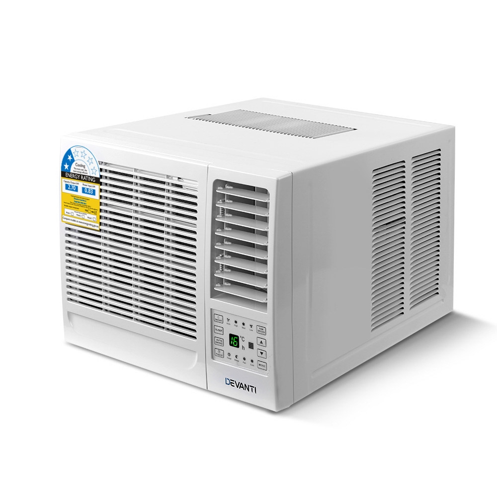 Brand New Devanti Window Air Conditioner Portable 2.7kW Wall Cooler Fan Cooling Only Fast Free Shipping