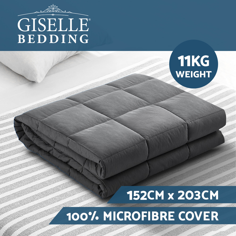 🥇 New Giselle Weighted Blanket 11KG Heavy Gravity Blankets Adult Deep Sleep Ralax Washable ⭐+ Fast Free Shipping 🚀