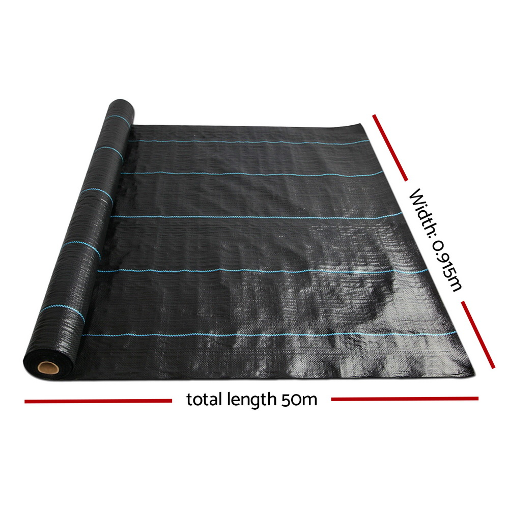 [Brand New] Instahut 0.915m x 50m Weedmat Weed Control Mat Woven Fabric Gardening Plant Fast Free Shipping Australia Wide 2020