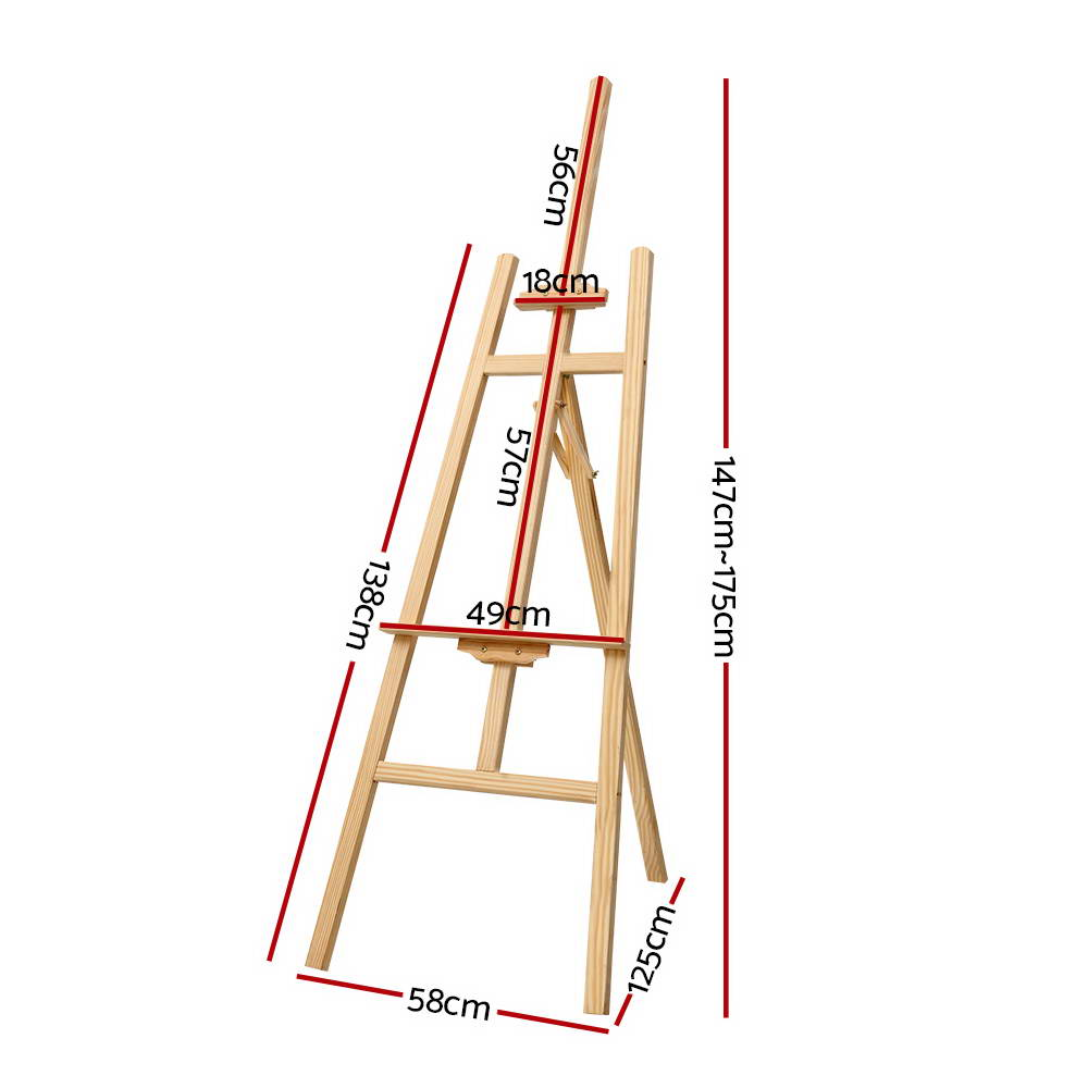 🥇 New Artiss Pine Wood Easel Art Display Painting Shop Tripod Stand Wedding 175cm ⭐+ Fast Free Shipping 🚀