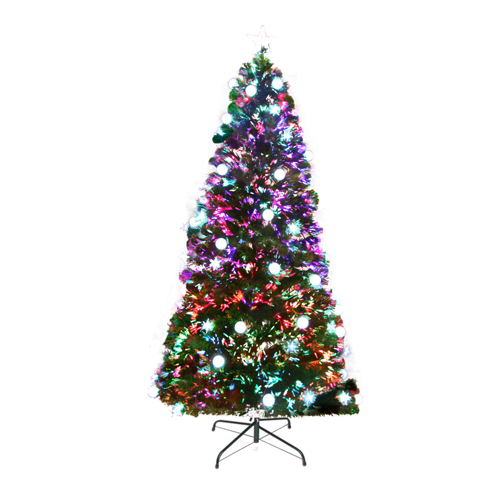 🥇 New Jingle Jollys 2.1M 7FT LED Christmas Tree Optic Fiber Xmas Multi Colour Lights ⭐+ Fast Free Shipping 🚀