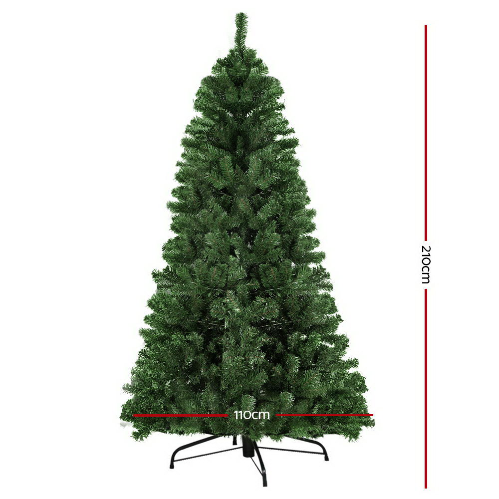 🥇 New Jingle Jollys 2.1M 7FT Christmas Tree Xmas Decoration Home Decor 700 Tips Green ⭐+ Fast Free Shipping 🚀