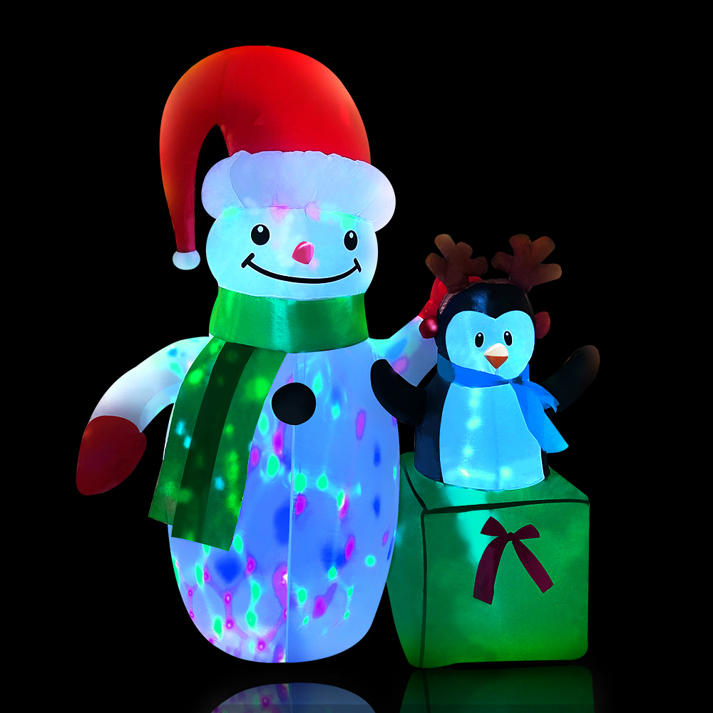 Jingle Jollys Inflatable Christmas 2.4M Snowman LED Lights Outdoor Decorations