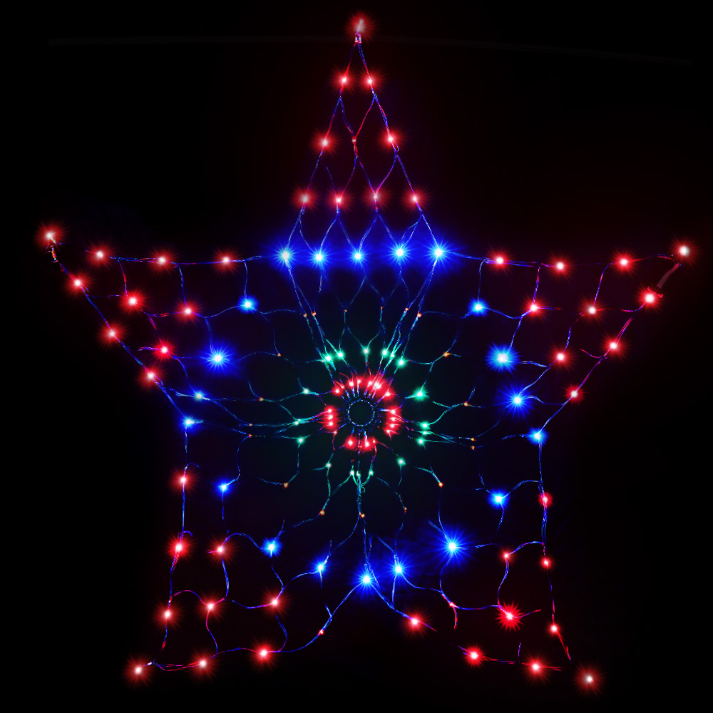 [Brand New] Jingle Jollys Christmas Lights Motif LED Star Net Waterproof Outdoor Colourful Fast Free Shipping Australia Wide 2020