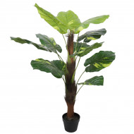 Artificial Potted Pothos Plant with Pole 100cm