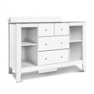 Keezi Baby Change Table Tall boy Drawers Dresser Chest Storage Cabinet White
