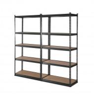 2x1.8M 5-Shelves Steel Warehouse Shelving Racking Garage Storage Rack Grey