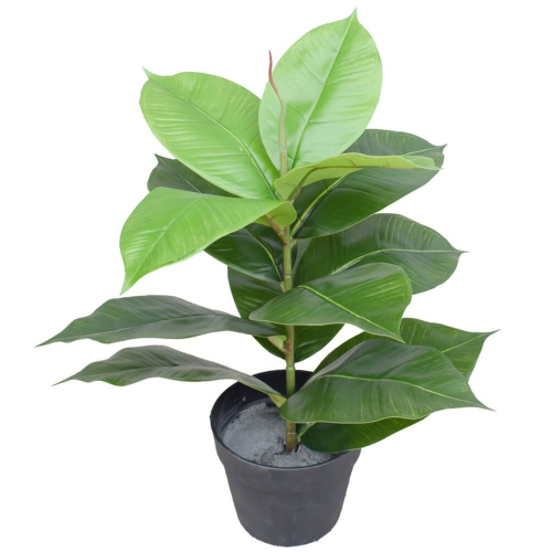 Artificial Potted Rubber Plant 55cm